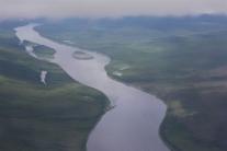 Нижняя Тунгуска с высоты птичьего полета