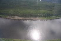 Нижняя Тунгуска. Вид из вертолета