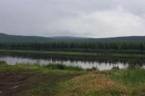 Нижняя Тунгуска у поселка Тутончаны. Вид с берега