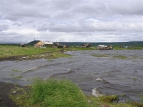 Поселок Чиринда. Вид  с озера