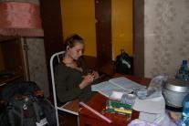 Надя Мамонтова за составлением протокола аудиозаписей
