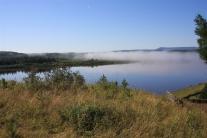 Нижняя Тунгуска у Кислокана. Вид с берега
