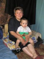 Лилия Васильевна Комбагир с внуком