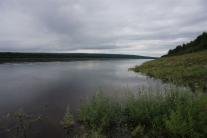 Берега Нижней Тунгуски у поселка Тутончаны