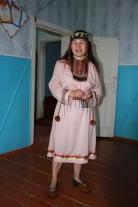 Барышева Наталья Прокопьевна в селькупском костюме