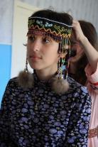 Участники экспедиции в селькупских костюмах из клуба Напаса