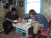 Подготовка к расшифровке только что записанного текста: Ольга Анатольевна Казакевич и Дмитрий Николаевич Хутокогир