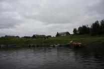 Вид на поселок с реки