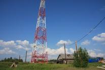 ЛЭП Сидоровск Красноселькупский район ЯНАО power line Sidorovsk Krasnoselkupsky district Yamal