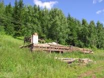 Суломай: старый поселок - от этого дома после наводнения осталась одна печь