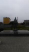 Памятник величайшему сумоисту Тайхо Коки, уроженцу Поронайска